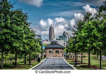 charlotte north carolina view from greenway - Charlotte,...
