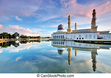 Mosque in malaysia - Floating mosque in Kota Kinabalu