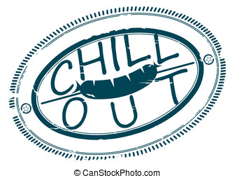 Chill out stamp