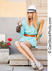 fashion model in the city - picture of fashion model in the...