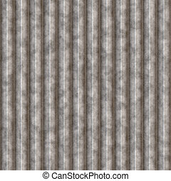 Galvanized Steel - Galvanized steel texture with ridges that...