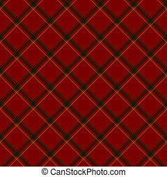 Red, Green and Yellow Plaid Fabric Background - Red, Green...