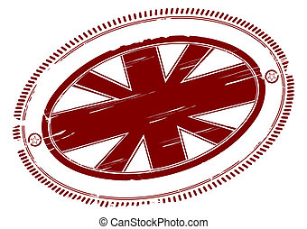 Union jack stamp - Union jack rubber stamp with place for...