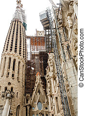 Construction Details on Barcelona Church - The old Gaudi...