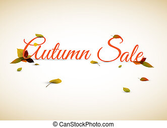 Vector autumn sale poster / illustration