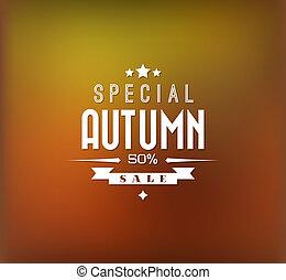 秋天, 矢量, 銷售, 背景