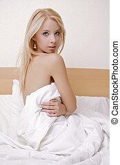 beautiful adult sensuality woman - portrait of a beautiful...