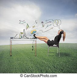 Relax and success in business