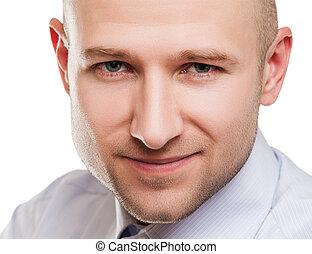 Handsome man portrait - Handsome smiling adult man portrait