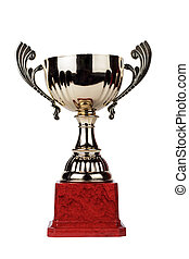 trophy cup isolated on the white background