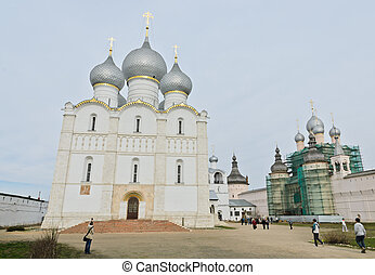 Rostov Kremlin, Russia - Assumption cathedral in Rostov...
