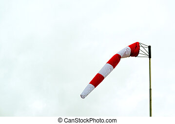 Windsock on a cloudy winter day.