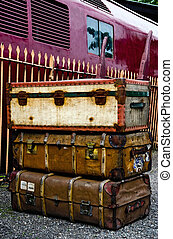 Old suitcases on Seven Valley railway