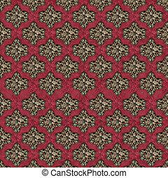 Decorative Retro Background Pattern - Decorative retro...