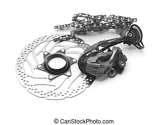 bicycle gears - bicycle spare parts: disc brake rotor, rear...