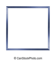 thin blue metal frame - simple blue metal frame on the white...