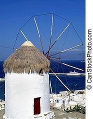 Mykonos windmill - Windmill on the greek island of Mykonos