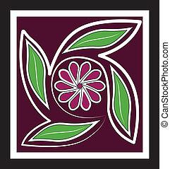 Flower vintage icon background logo