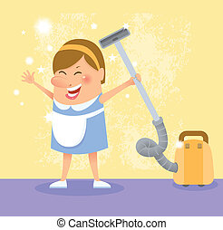 cleaning woman - Cleaning woman