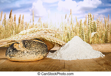Bread and wheat cereal crops - Bread, flour and wheat cereal...