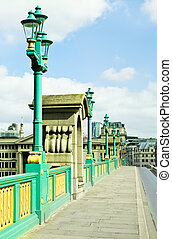 Southwark Bridge - Pavement on Southwark Bridge in London,...