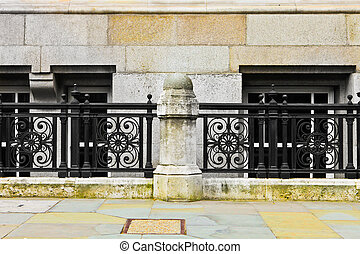 Railings - London architecture railings,wall and building