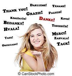 Happy And Thankful Teenage Girl - Portrait of a happy and...