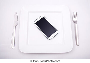 Smartphone Food - A Smartphone served on a Plate