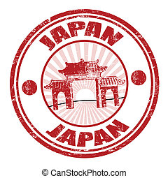 Japan stamp - Japan grunge rubber stamp, vector illustration