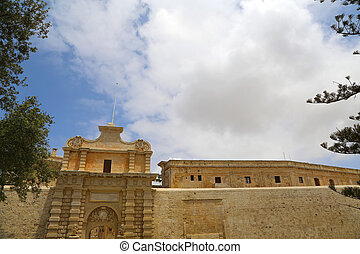 The Gate of in Mdina , Malta, southern Europe