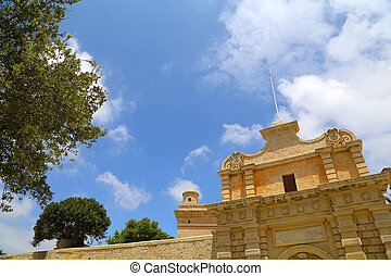 The Gate of in Mdina, Malta, southern Europe