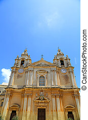 St Pauls Cathedral - St Pauls cathedral in Mdina, Malta