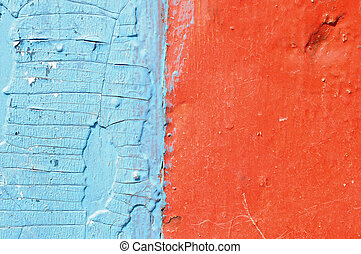 red and blue grunge wood