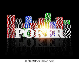 All in! - 3d render of a poker concept
