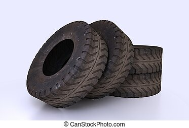 Earth Mover Tire Molds - Illustration and rendering Earth...