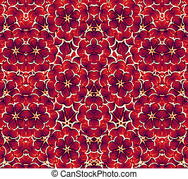 American Colors Pattern - Floral pattern with american...