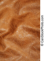 brown leather - background made of a closeup of a brown...