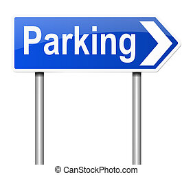 Parking sign. - Illustration depicting a sign directing to...