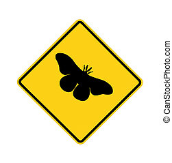 road sign - butterfly crossing