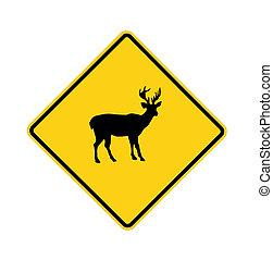 road sign - deer crossing