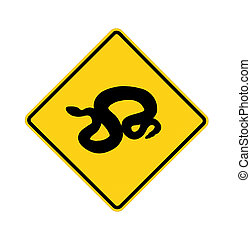 road sign - snake crossing