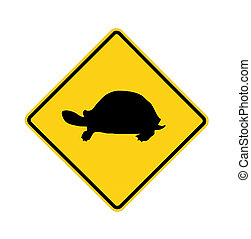 road sign - turtle crossing