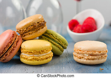 Macaroons - Delicious Multi Colored Macaroons filled with...