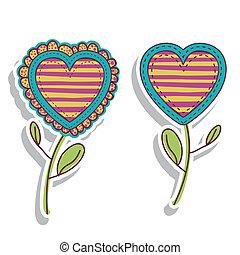 hearts florals