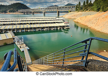 Marina on Lake Shasta with steep steps - Steep steps lead to...