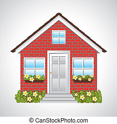 real estate design over gray background vector illustration