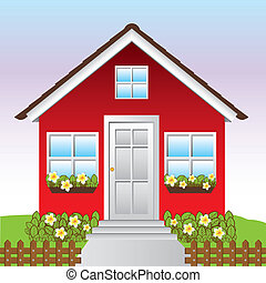 house design over blue background vector illustration