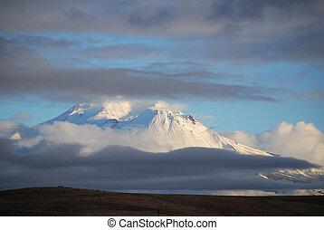 Mt Shasta Stormclouds - Mt Shasta, California in winter...