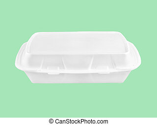 fast food container - white fast food container on isolated...