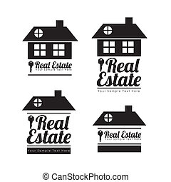 real estate icons over white background vector illustration